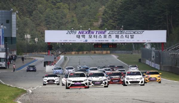 엔페라 GT-200 결승에서 우승을 차지한 송병두의 레이스 장면. (사진= 권진욱 기자)